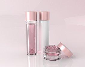 3D model Cosmetic Bottle Set