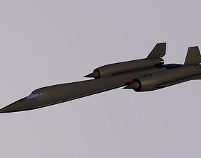 3D asset rigged SR-71 Blackbird