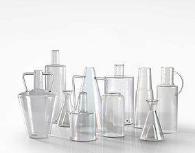Glass Vase Set 3D