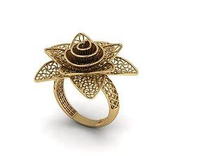 flower women rings 3D print model