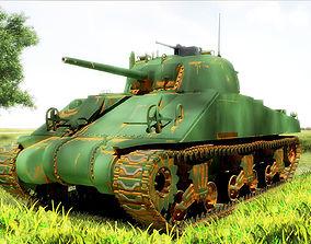 3D model sherman M4 HP