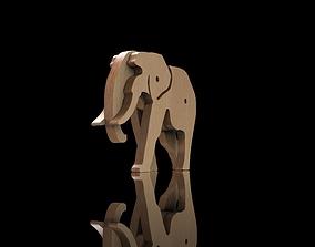 Wooden Animal Toy Elephant 3D model