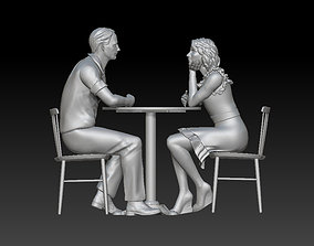 3D printable model man and woman