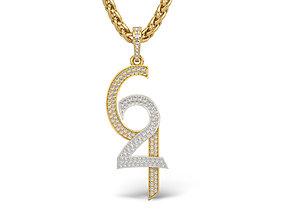 3D print model 624 pendant