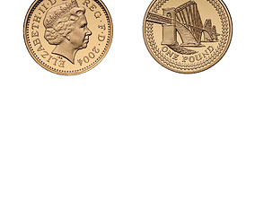 One-Pound Coin 3D asset
