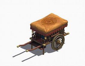 Game Heyang City - Yellow Wagon 3D model