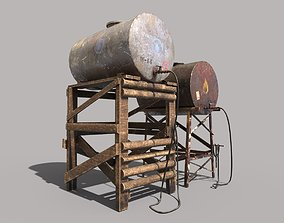 3D model Old Oil And Water Tank
