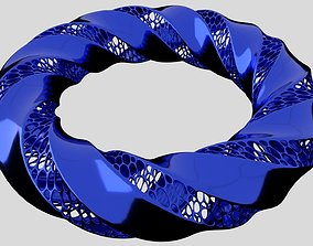 Tripple twisted Torus 3D print model desktop