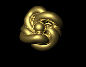 gold knot ring 3D print model