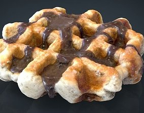 3D asset game-ready Waffle Chocolate