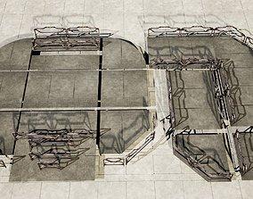 sci fi flooring - modular kit - collection 3D asset
