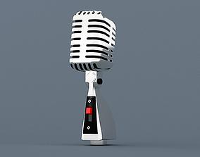 Microphone retro old radio 3D