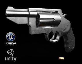 Revolver 3D asset game-ready PBR
