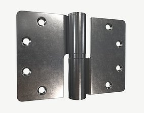 3D door lift off stainless steel hinge with round corners