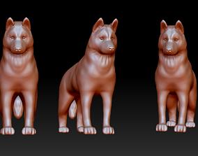 Siberian husky figurine 3D print model