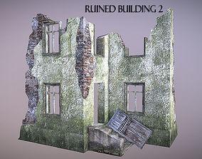 3D asset Ruined Building 2