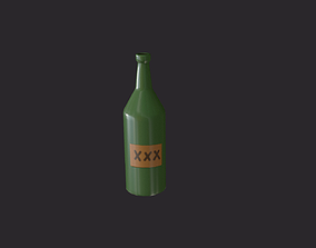 simple bottle 3D