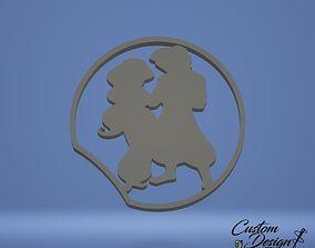 Disney Inspired Mouse Ears - Aladdin and Jasmine 3D print