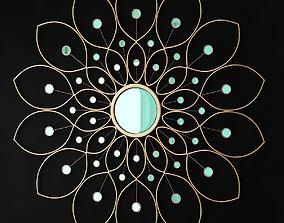 realtime Lotus Flower Mirror low poly 3d model