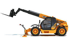 3D Yellow Case Telescopic Handler