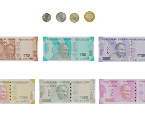 Indian Currency 3D asset
