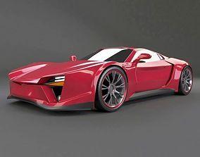 Pantherox sports car concept 3D