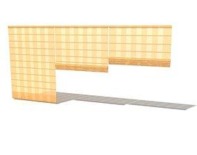 Tan Bamboo Blinds 3D model