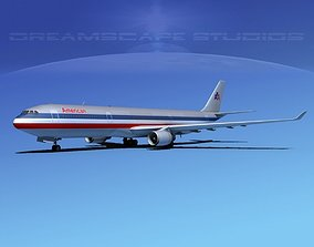 3D model Airbus A330-300 American Airlines 1