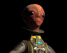 3D model Alien big eyed ET
