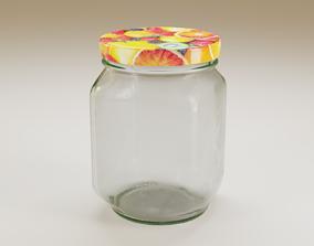3D model Mason jar jam