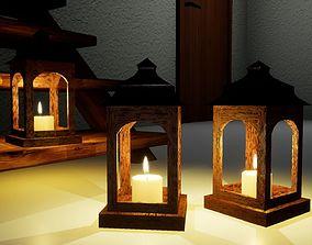 Small wooden lamp Norvedem 3D asset