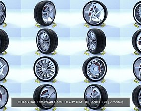 3D ORTAS CAR RIM 39-40 GAME READY RIM TIRE AND DISC