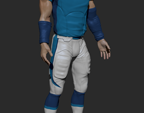 3D model football Uniform with UV Textures