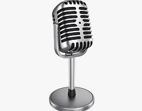 voice 3D model Microphone