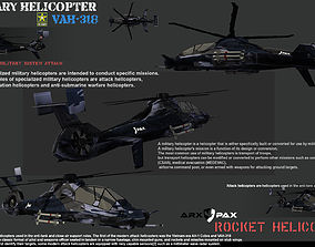 game-ready VAH-318 Military Helicopter 3D Models