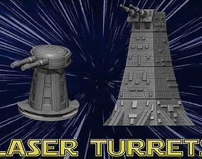 3D print model Laser tower