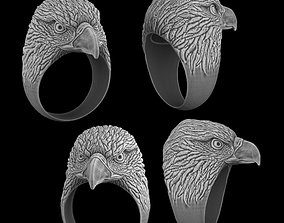 eagle 3D printable model Eagle ring