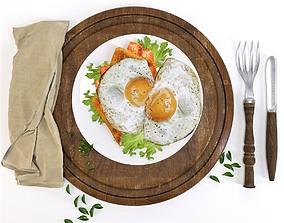 Fried eggs 3D