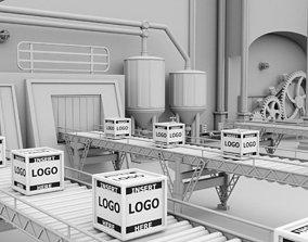 Interior Factory Scene 3D