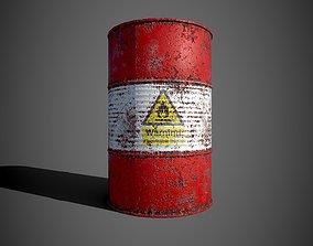 Oil barrel 3D model realtime steel