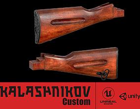 3D asset AK - STOCK - AK74 WOOD STD