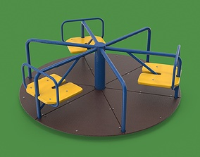 3D model realtime Playground carousel