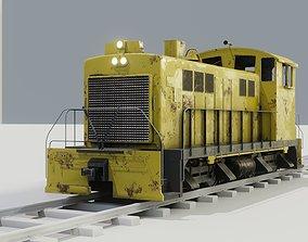 Diesel locomotive 3D model textures PBR game-ready