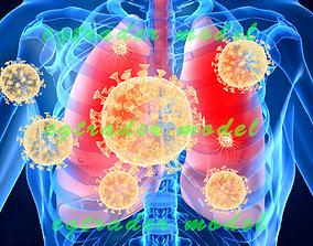 3D asset coronavirus pneumonia illness