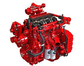 3D model Red Cummins Engine