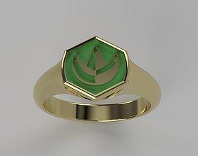 3D printable model Green Power Ranger Signet Ring