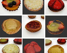 Fruit Cake Pie - 5 Pack 3D model