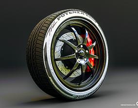 race 3D model Wheel