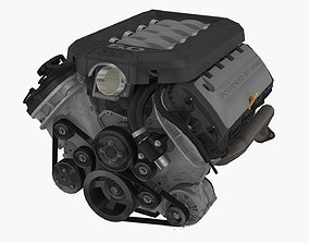 3D asset Ford Mustang 2011 Coyote engine