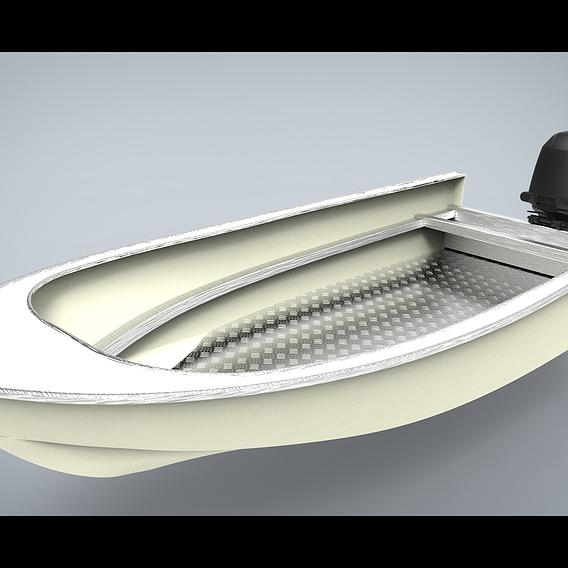 Aluminium boat 5 meters